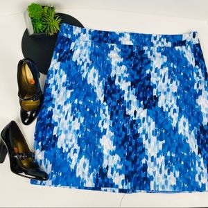 Calvin Klein Water Color Blue Pencil Skirt 22W